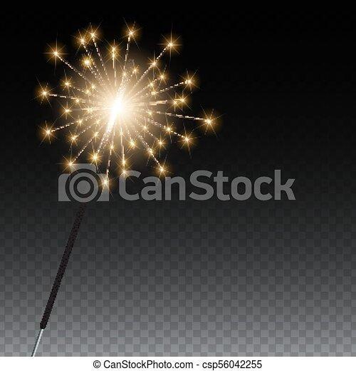 Bengal lights on a transparent background. Vector Illustration - csp56042255