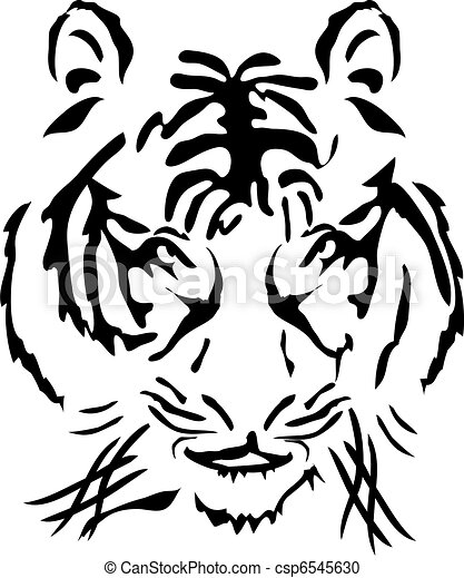 bengal tiger head       - csp6545630