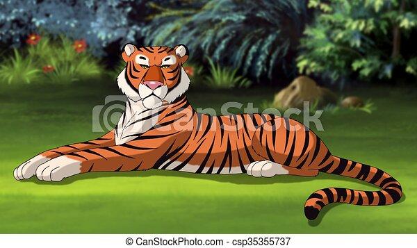 Bengal Tiger Image - csp35355737