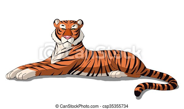 Bengal Tiger Isolated  - csp35355734