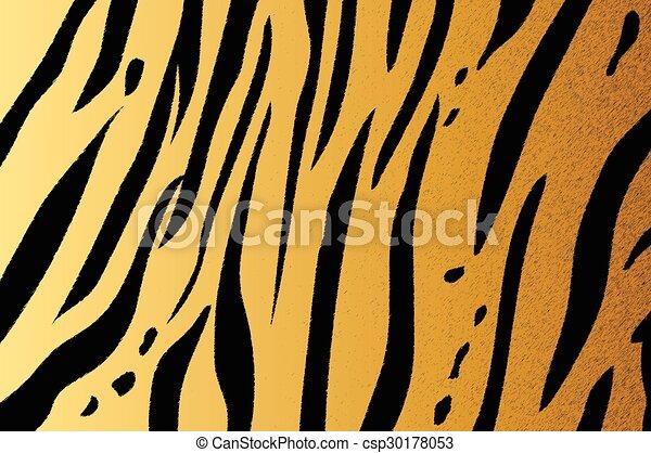 bengal tiger stripe pattern - csp30178053