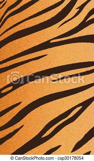 bengal tiger stripe pattern - csp30178054