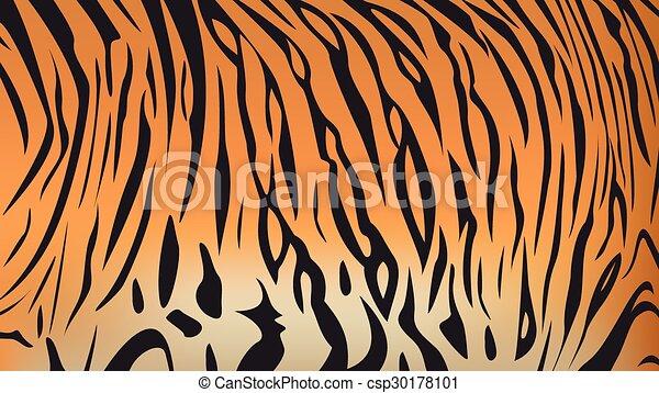 bengal tiger stripe pattern - csp30178101