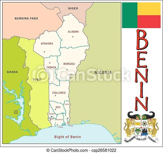 Benin administrative divisions Administrative divisions map