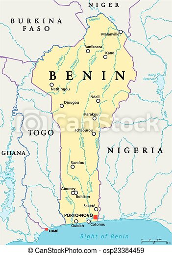 Benin Political Map - csp23384459