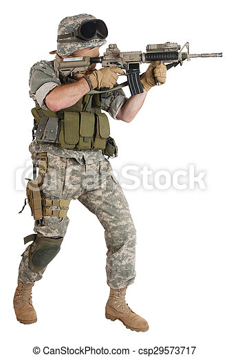 bennünket, katona, támadás, háttér, karabély, fehér - csp29573717
