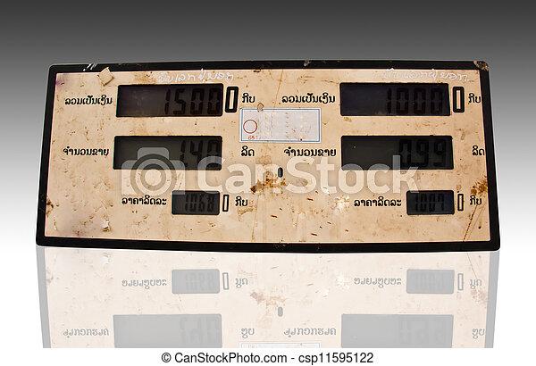 bensinstation, pris - csp11595122