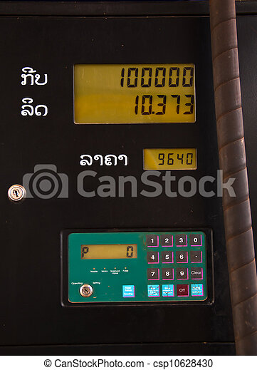 bensinstation, pris - csp10628430
