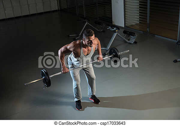 Bent Over Row Workout For Back - csp17033643