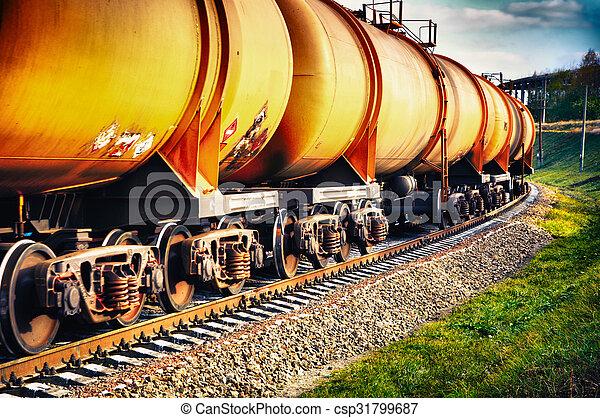 benzin, fűtőanyag, vasút kíséret, tartály - csp31799687
