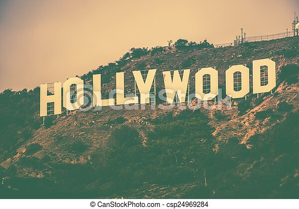 berühmt, hollywood, hügel - csp24969284