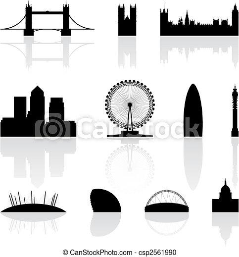 berühmt, wahrzeichen, london - csp2561990