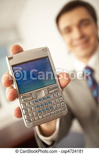 berühren, telefon, schirm - csp4724181