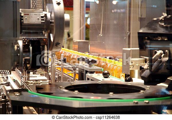 berendezés, folyékony, iparág, töltelék, csomagolás, gépek - csp11264638