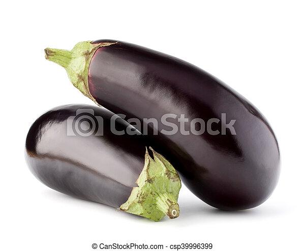 Berenjena o verduras de berenjena aisladas en corte de fondo blanco - csp39996399