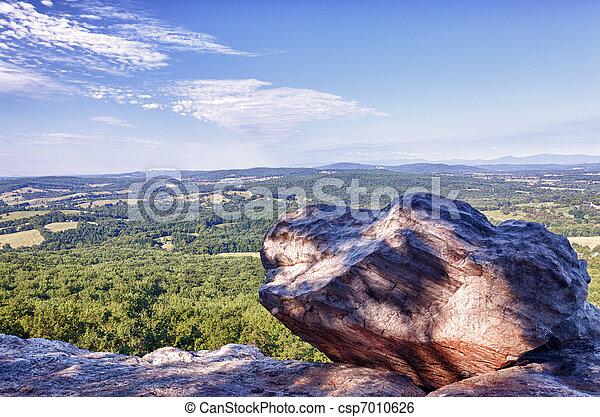 berg, übersehen, virginia, stier - csp7010626