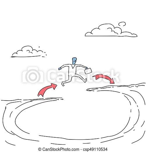 berg, begriff, geschaeftswelt, erfolg, aus, lücke, springen, geschäftsmann, felsformation, risiko, mann - csp49110534