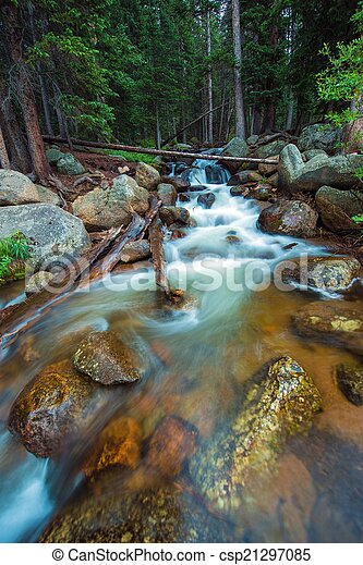 Rocky Mountain River - csp21297085