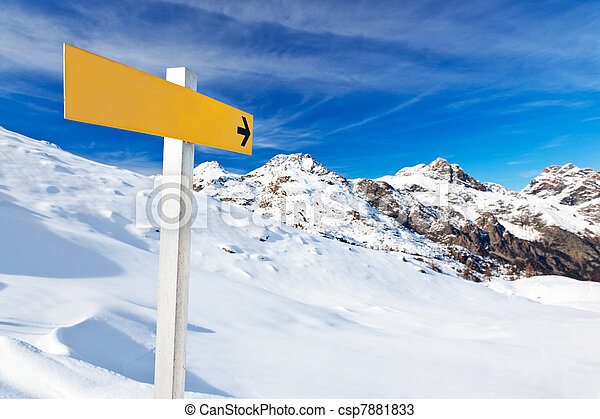 berg, guidepost - csp7881833