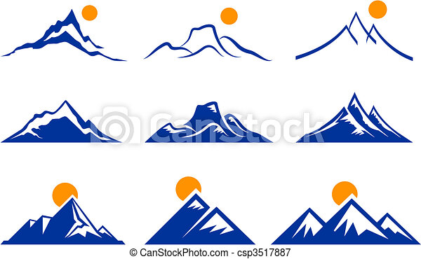 berg, iconen - csp3517887