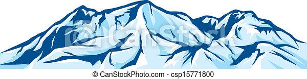 berg, illustratie, landscape - csp15771800