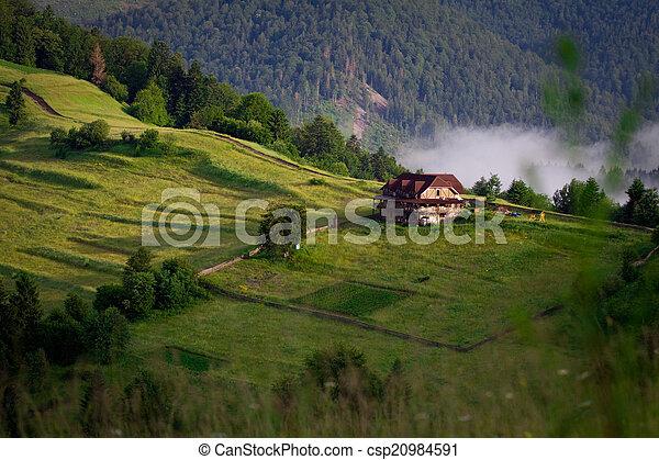 berg, mist, bergen - csp20984591