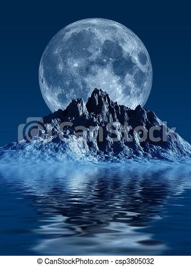 berg, mond - csp3805032