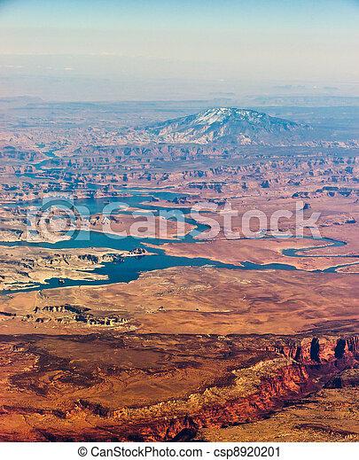 berg, navajo, luftaufnahmen - csp8920201