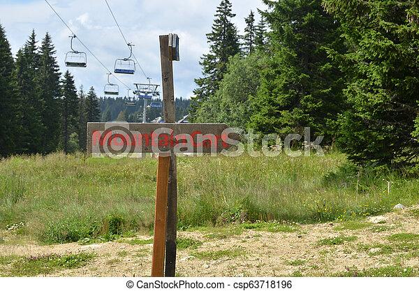berg, signboard, kar - csp63718196