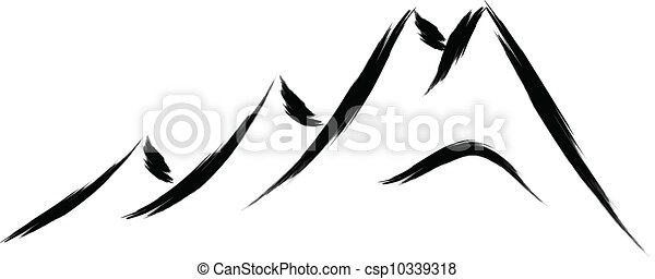 berg, skizze - csp10339318