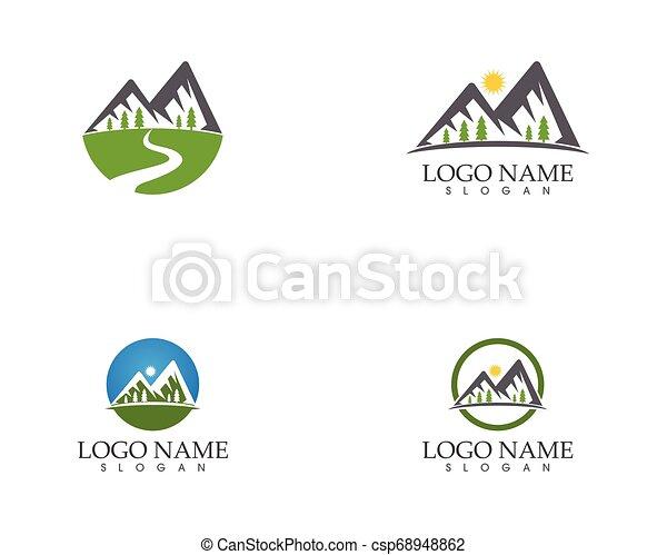 berg, vector, mal, logo - csp68948862