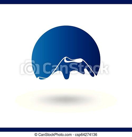 berg, vector, mal, logo - csp64274136