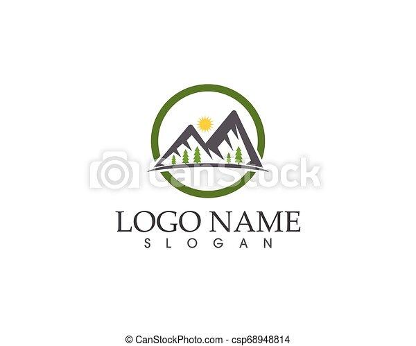 berg, vector, mal, logo - csp68948814