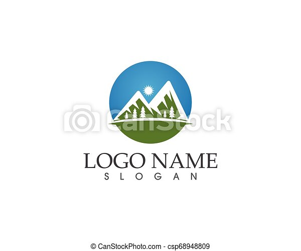 berg, vector, mal, logo - csp68948809