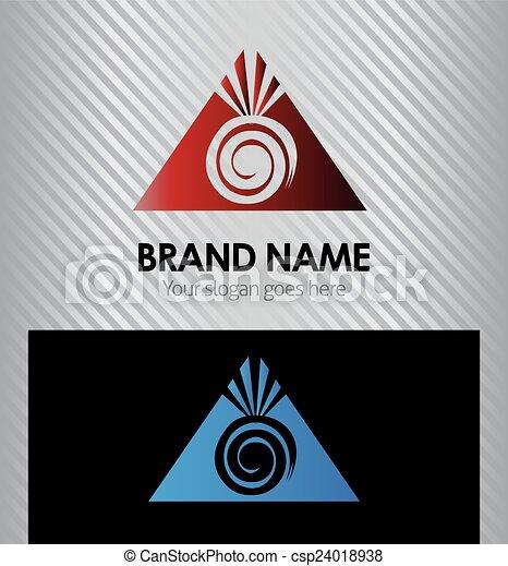 berg, zon, logo - csp24018938