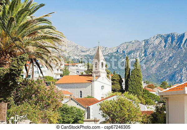 berge, -, kroatien, brist, kirche, front, brist, dalmatien - csp67246305