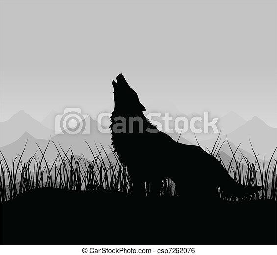 Wolf in den Bergen - csp7262076