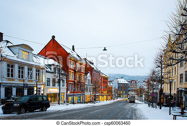 Christmas In Norway.Bergen At Christmas