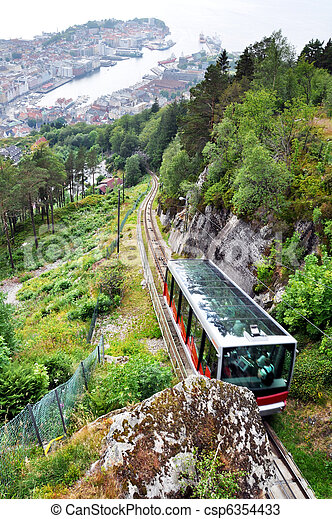 Bergen funicular - csp6354433