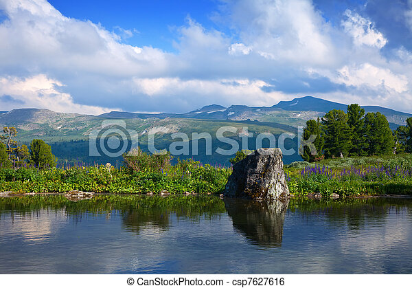 bergen, meer - csp7627616