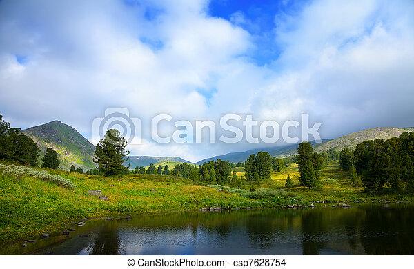 bergen, meer - csp7628754