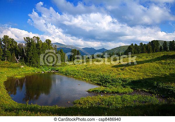 bergen, meer - csp8486940