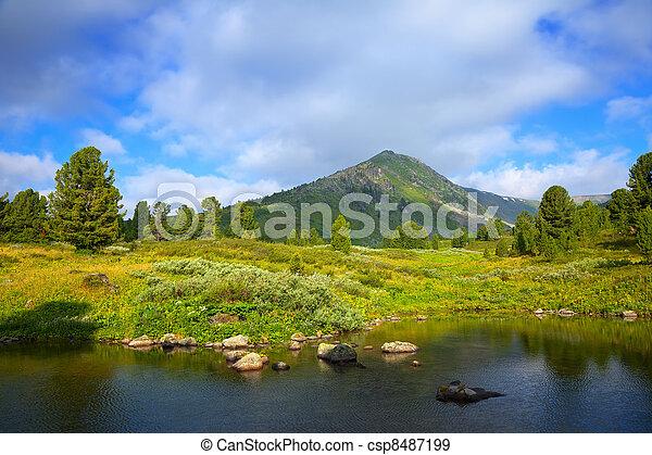 bergen, meer - csp8487199