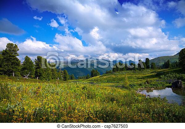 bergen, meer - csp7627503