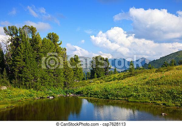 bergen, meer - csp7628113