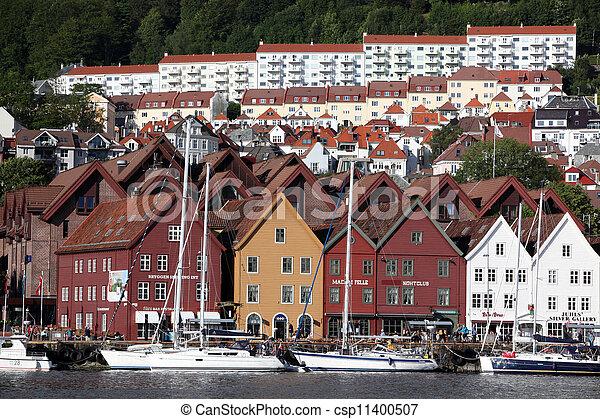 BERGEN, NORWAY - CIRCA JULY 2012: Views of city circa July, 2012 in Berben. Berben is the second largest city in Norway - csp11400507