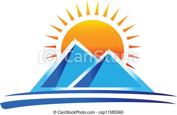 bergen, vector, logo - csp11585560