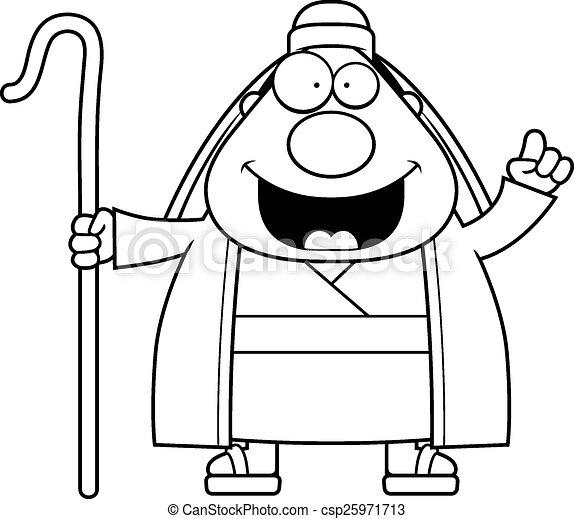 berger, dessin animé, idée - csp25971713