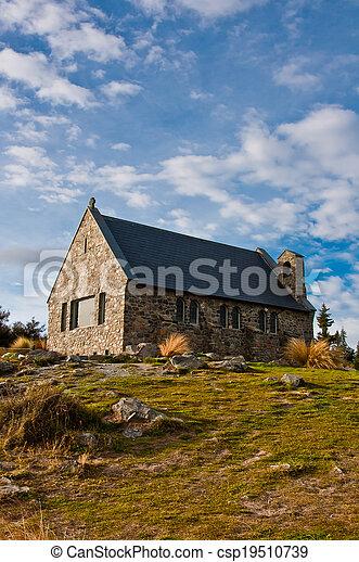 berger, lac tekapo, église, zélande, bon, nouveau - csp19510739