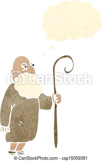 berger, retro, dessin animé - csp15059381